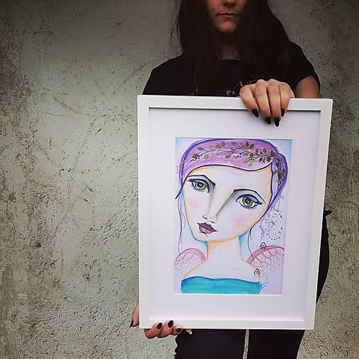 Salome- akvarelový anjel