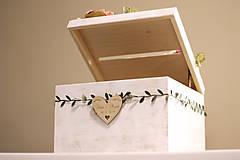 Nábytok - Svadobná truhlica bez kvietkov - 11538640_