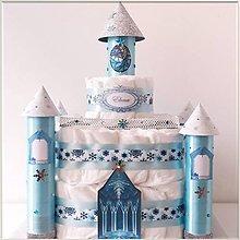 Detské doplnky - Plienková torta ĽADOVÝ ZÁMOK - 11540063_