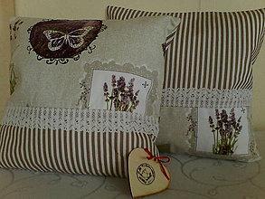 Úžitkový textil - Vankúš levanduľa - 11539172_