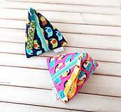 Taštičky - Trojuholníková taštička so zvieratkami - 11538189_