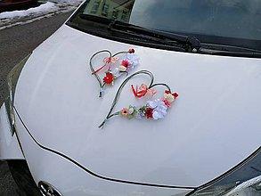 Dekorácie - FOLK svadobná výzdoba auta - 11538658_