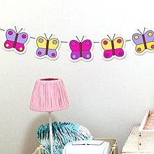 Detské doplnky - Detská girlanda motýle - 11538930_