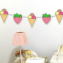 Detské doplnky - Detská girlanda jahodová zmrzlina - 11538961_