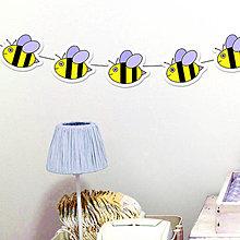 Tabuľky - Detská girlanda včielky - 11538983_