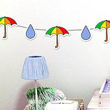 Dekorácie - Detská girlanda dáždnik a kvapky dažďa - 11538995_