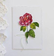 Papiernictvo - Pohľadnica, ruža - 11541121_