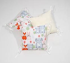 Textil - Vankúšový mantinel sloník, líška, zajačik - 11543760_