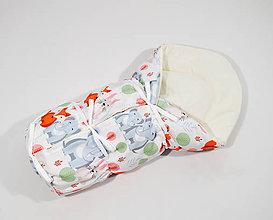 Textil - Zavinovačka sloník, líška, zajačik - 11543840_