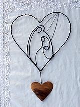 Dekorácie - svätá rodina v srdci... - 11542433_