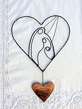 Dekorácie - svätá rodina v srdci... - 11542437_