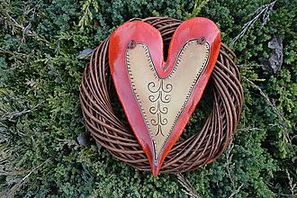 Dekorácie - Srdce vo venci č.3 - 11541554_