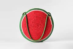 Kabelky - Kabelka kulatá melounová - 11542757_
