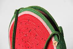 Kabelky - Kabelka kulatá melounová - 11542758_