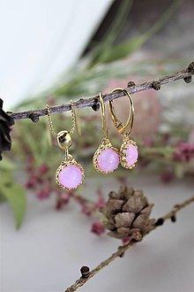 """Sady šperkov - """"kunzit"""" náušnice a prívesok v striebre - luxusný set - 11543983_"""