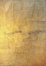 Obrazy - Milujem ťa vo dne v noci - dvojdielny zlatý abstrakt - 11543057_