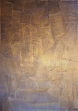Obrazy - Milujem ťa vo dne v noci - dvojdielny zlatý abstrakt - 11543058_