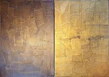 Obrazy - Milujem ťa vo dne v noci - dvojdielny zlatý abstrakt - 11543074_