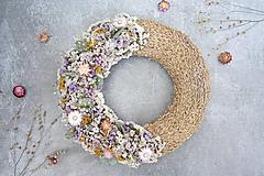 Dekorácie - Kvetinový veniec - 11542681_