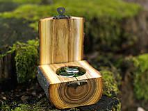 Prstene - Krabička na obrúčky - Agát - 11543289_