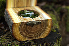 Prstene - Krabička na obrúčky - Agát - 11543290_