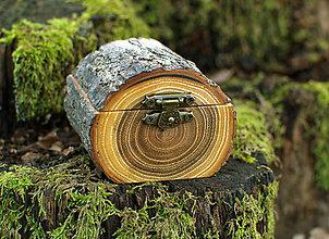 Prstene - Krabička na obrúčky - Agát - 11543291_