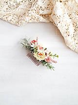 Ozdoby do vlasov - Kvetinový hrebienok - 11541971_