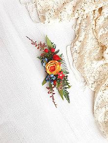 Ozdoby do vlasov - Kvetinový hrebienok ,,ľudový,, - 11541157_