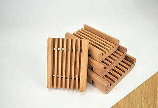 Nádoby - Mydelnička drevená BUK - 11543420_