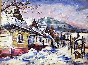Obrazy - Vlkolínec v zime 2020 - 11541898_