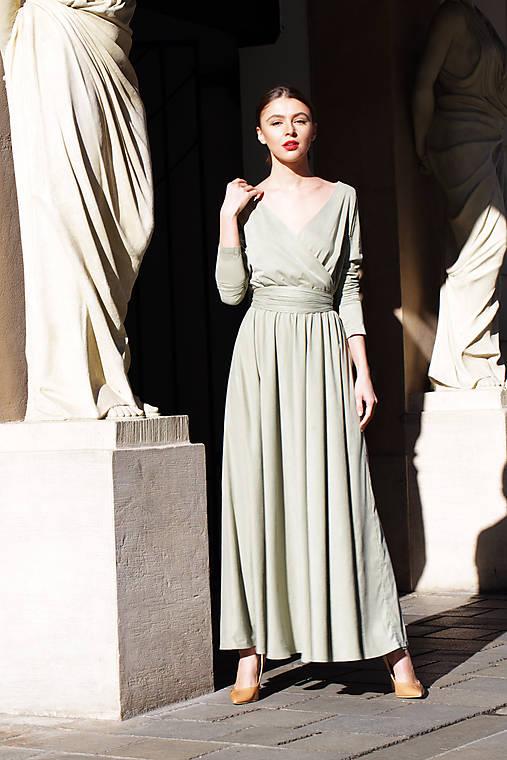 Šaty jarná zeleň