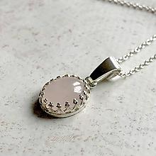 Náhrdelníky - Filigree Rose Quartz AG925 Necklace / Strieborný náhrdelník s ruženínom /T0001 - 11544493_