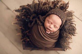 Detské čiapky - Štrikovaná čiapočka béžová - 11545589_