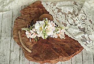 Ozdoby do vlasov - Kvetinový ružový polvvenček z kolekcie Romantic bride - 11547381_