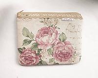 Taštičky - Taštička väčšia - Romantické ruže a krajka - 11544981_