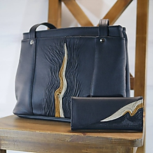 Veľké tašky - Kožený set - Anita s peňaženkou - 11546949_