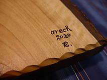 Nádoby - Orechová miska , ručne tesaná , s kôrou 2 - 11546674_