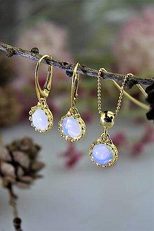 """Sady šperkov - """" opál """" náušnice a prívesok v striebre - luxusný set - 11547430_"""