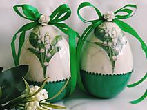 Dekorácie - Veľkonočné kraslice - konvalinkové - 11545360_