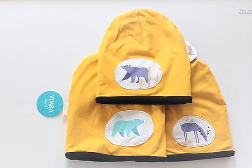 """Zimná čiapka """"medvede a jeleni"""""""