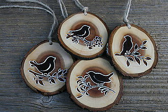 """Dekorácie - veľkonočná dekorácia na zavesenie sada""""vtáčence"""" - 11545631_"""