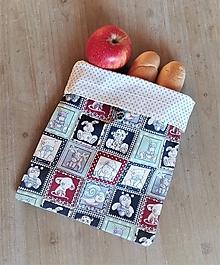 Úžitkový textil - Desiatové vrecúško dvojvrstvové na gombík _ detské - 11544811_