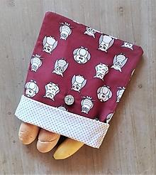 Úžitkový textil - Desiatové vrecúško dvojvrstvové na gombík _ sovičky - 11544968_