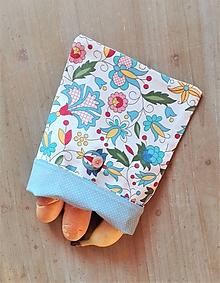 Úžitkový textil - Desiatové vrecúško dvojvrstvové na gombík _  svieži folk a bodka - 11545076_
