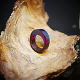 Prstene - Drevený prsteň: Vedľa seba - 11544777_