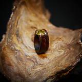 Prstene - Drevený prsteň: Na lúke - 11545051_