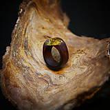 Prstene - Drevený prsteň: Na lúke - 11545057_