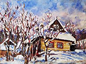 Obrazy - Chalúpka vo Vlkolínci - 11545168_