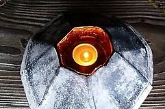 Svietidlá a sviečky - Upcyklovaný asymetrický svietnik - 11545943_