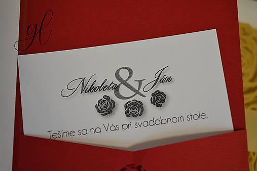Svadobné tlačoviny ruže (Pozvánka 9x5 cm - Biela)
